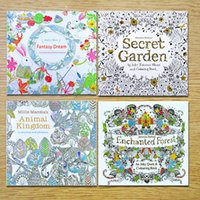 24 pages coloring book mixed styles relieve stress for kids adult fantasy dream painting drawing secret garden kill time stock with fast uk - Coloring Book Paper Stock