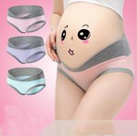 Wholesale Pregnancy Plus - Pregnant Panties Maternity Briefs Women's Summer Plus Size Bragas U-Shaped Briefs Cotton Low Waist Underwear Pregnancy Women Clothes B2700