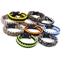 Wholesale Cobra King - 20PCS Hot Fashion Survival Bracelet 550 King Cobra PARACORD BRACELETS KIT Military Emergency Mix colors [B741-B742 M*20]