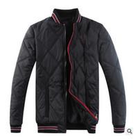 Wholesale Eiderdown Coat - 2017 Men's POLO fashionable eiderdown cotton-padded jacket Sleeveless vest Brand ma3 jia3 coat Men's super light feather jacket