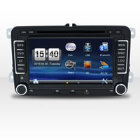 Wholesale Dvd Amarok - New 7 Inch 2Din Wince6.0 Capacitive Touch Car Multimedia Player For VW GPS Radio Bluetooth Car DVD Free Map Car Entertainment System Audio