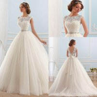 Wholesale Beach Tube Top Wedding Dresses - Vestido de noiva Lace And Tulle Bride Wedding Dress Princess Tube Top Beading Wedding Gown Custom-made