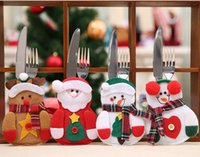 Wholesale Christmas Dinnerware Sets - Christmas decorations for tableware dinnerware Christmas cutlery sets Christmas knives and Forks Set for restaurant hotal Festive supplies