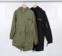 Wholesale Military Style Hooded Windbreaker Mens Kpop Designer Side Pocket Autumn Cago Jackets