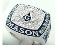 Wholesale Championship Boxing - New arrival amazing blue lodge masonic championship ring with velvet ring box and free express shipping