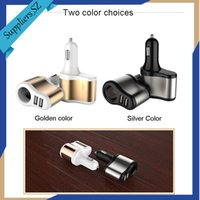 Wholesale Usb Charger Splitter - Smart Car Charger Dual USB Ports 3.1A + 1 Socket Cigarette Lighter Splitter Car Power Adapter 80W for iPhone iPad Android