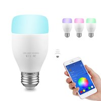 Wholesale Music Rhythm Led - WiFi Smart Bulb 6W E27 RGBW LED Light Support Remote Control   Music Rhythm   Adjust Color Brightness for Android iOS Smartphone
