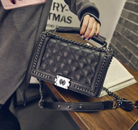 Wholesale Wholesale Quilted Leather - Diamond Lattice Women Bag Designer Handbags High Quality Lady Quilted Plaid Shoulder Crossbody Bags Leather Women Messenger Bag