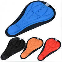 Wholesale Track Bike Saddle - 4 Colors Cycling Bike Saddles 3D Comfortable Silicone Gel Seat Cover Cushion Soft Bicycle Pad Mountain Bike Parts Acessories Free Shipping
