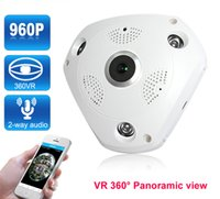 Wholesale ptz cctv for sale - Group buy 960P WIFI Wireless IP Camera Degree Panoramic VR Camera FishEye CCTV Security Camera Electronic PTZ