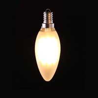 Wholesale frosted candles - 4W 6W Retro LED Filament Bulb C35 Frosted Candle Style E12 E14 Base Warm White 2700K Chandelier Household Lights Dimmable