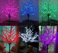 Wholesale Cherry Led Lamp - LED waterproof outdoor landscape garden peach tree lamp simulation 1.5 meters 480 lights LED cherry blossom tree lights garden decoration MY