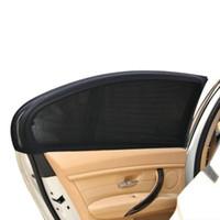 vizör uv koruması toptan satış-Toptan-2 Adet 50 * 52 cm Oto Araba Araç Kapı Pencere UV Koruma Kalkanı Güneş Gölge Güneşlik Kapak Evrensel Siyah