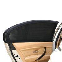 Wholesale wholesale uv visors - Wholesale- 2Pcs 50*52cm Auto Car Vehicle Door Window UV Protection Shield Sun Shade Visor Cover Universal Black