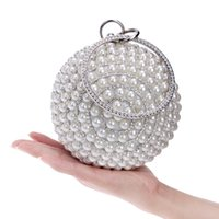 Wholesale Designer Womens Chain Purse - Luxury Womens Spheric Crystal Clutch Bags Evening Handbags Wallet Designer Purse Party Wedding Black Gold Silver Dating Awesome