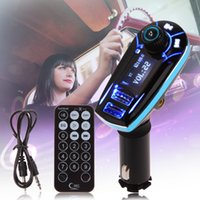 Wholesale car cigarette lighter usb mp3 player online - Car MP3 Player Infrared Remote Control Support AUX Cigarette Lighter Type Card Machine Dual USB Car Charger Car Stereo Music