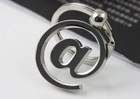 hochwertiges internet großhandel-Hochwertige Klassische Metall AT Zeichen Internet Charakter Anhänger Schlüsselanhänger Schlüsselanhänger Keyfob Geschenk