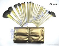 Wholesale Hot Chocolate Packaging - HOT NEW Makeup Brushes Nude 3 24 piece Professional Brush sets Chocolate package+gift
