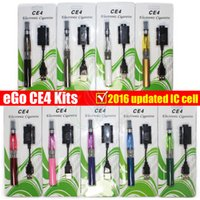 Wholesale Ecigs Ce4 Starter Kit - eGo electronic cigarette starter kit Blister Updated IC cell with CE4 atomizer 650 900 1100mAh ego t battery vaporizers ecigs vapor kits DHL