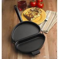 Wholesale Steel Pot Handle - Folding Omelette Pan Fried Eggs Pot Handle Non Stick Cookware Outdoor Portable Foldings Pots Boiler Egg Holloware Stay Cool