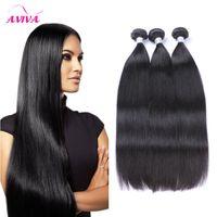 insan saç uzantısı 5adet toptan satış-İşlenmemiş Brezilyalı Düz Vücut Saç Atkı İnsan Saç Doğal renk 9A Saç Uzantıları 3 adet / 4 adet / 5 adet lot paketler Bo ...