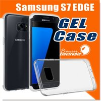 Wholesale S4 Bumpers - S7 Edge Case, Anti-Scratches TPU Gel Premium Slim Flexible Soft Bumper Rubber Protective Case Cover for S7 S6 edge S5 S4 Note 7 Note 5 Case