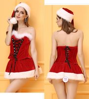 Wholesale Costume Santa Claus Woman Sexy - 2016 new Christmas Costume Sexy Christmas Fun uniform role play Festival Costume Adult temptation suit