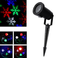 Wholesale Outdoor Christmas Snow - New Waterproof Moving Snow Laser Projector Lamps Snowflake LED Stage Light For Christmas Party Landscape Light Garden Lamp Outdoor