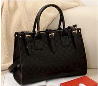 Wholesale Pocket Chains For Sale - Designer Women Tote Satchel Luxury Fashion Black PU Leather Handbag for Lady Fashion Shoulder Bag Messenge Purse Gift 2016 New Hot Sale