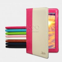 Wholesale Ipad Smart Case Packaging - KAKU Dual Color PU Leather Flip Stand Cover Case for ipad 4 5 6 air 1 2 ipad mini 2 7.9 9.7 inch with package