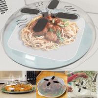 Wholesale Wholesale Vent Covers - Magnetic Microwave Splatter Guard Hover Anti-Sputtering Cover Food Splatter Guard Microwave Splatter Lid with Steam Vents 30*8.5cm