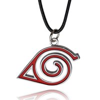 Wholesale Naruto Cosplay Wholesale - Cosplay Jewelry Pendant Necklace Naruto Logo Alloy Jewelry Necklace charm necklace accessories colar zj-0903862-8