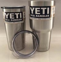 Wholesale Shipping Box Lid - YETI with lid 12OZ 20OZ 30OZ YETI Cups beer Mug Bottle Colster Rambl retail package box fast shipping