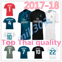 Wholesale Shirts Jersey Tops - Top Thai quality 17 18 Real madrid soccer Jersey 2017 2018 Benzema Ronaldo ASENSIO Modric Kroos Sergio Ramos Bale Marcelo football shirts