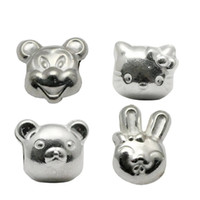 Wholesale Spacer Bead Charms - Beadsnice European Charm Beads 925 Sterling Big Hole Beads for Bracelet DIY Animal Shaped Jewelry Making Spacer Beads ID 34004