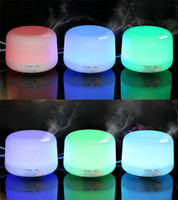 Wholesale Electric Aroma Lamps - 300ml Essential Oil Diffusers Air Humidifier Aroma Diffuser Aroma Lamp Aromatherapy Electric 7 Color LED Light DHL free