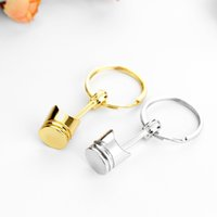 Wholesale Customized Key Chains - Piston model key holder car modified series key ring Creative gift metal key chain can be customized LOGO M011