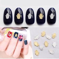 Wholesale Metal Fashion Nail Patch - New Fashion Hot Sale Diy Manicure Metal Ornaments Factory Wholesale Gold Silver Alloy Bergamot Nail Patch 100 Free Shipping