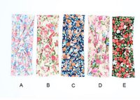 Wholesale Baby Welcome - Head Bands For Baby Girls Rabbit Ears Elastic Hair Bands infant print cotton Headwear welcome home gift