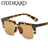 Wholesale Smart Sunglasses - ODDKARD DTC Series Smart Casual Sunglasses For Men and Women Brand Designer Semi-Rimless Square Sun Glasses Oculos de sol UV400 OK23179
