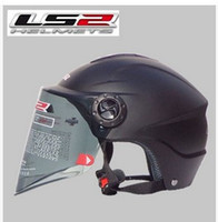 Wholesale Ls2 Helmets Uv - Wholesale-The new motorcycle helmet LS2 OF108 summer washable lining wear and UV lenses  Matte black S M L XL XXL