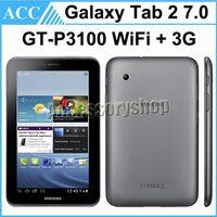 восстановленные таблетки оптовых-Восстановленный оригинал Samsung Galaxy Tab 2 7.0 GT-P3100 P3100 8GB Wifi + 3G Android телефон планшет DHL 5шт