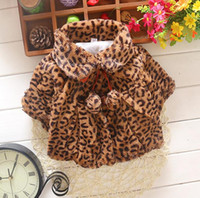 Wholesale Baby Leopard Coat Outwear - Kids Poncho Winter Children Outwear Girl Warm Leopard Coat For 0~4 Years Baby 3 Colors 3 p l
