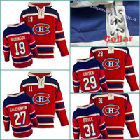 Wholesale price ice - Sweatshirts 19 Larry Robinson 27 Alex Galchenyuk 29 Ken Dryden 31 Carey Price Mens Montreal Canadiens Hockey Hoodie Stitched Jersey Hoodies