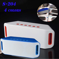 Wholesale Cheapest Portable Speakers - S204 Wireless Bluetooth Speakers Outdoor Horn Hi-Fi Stereo Subwoofer Support TF Card -disk For Phone PC Ipad Speaker Cheapest