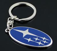 coeur acrylique porte-clés achat en gros de-Nouveau Emblème Subaru Key anneau de voiture Logo de haute qualité porte-clés porte-clés en métal alliage de zinc Llaveros Chaveiro pour porte-clés Subaru
