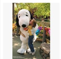 tamanho do adulto do traje da mascote do cão venda por atacado-2016 EPE Adulto Tamanho Snoopy Dog Mascot Costume Halloween Chirastmas Partido Fancy Dress Frete Grátis