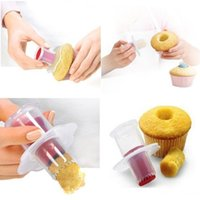 Wholesale Muffin Cake Corer Plunger - 300pcs Wholesale Cake Divider Core Tools Cupcake Muffin Pastry Cake Corer Plunger Cutter Decorating Divider Cake Tools ZA0382