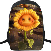 растения против рюкзаков зомби оптовых-SunFlower Cannon рюкзак Plants vs Zombies daypack Школьный рюкзак SunZ Sun Flower Game рюкзак Спортивная школьная сумка Открытый дневной пакет.