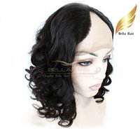 "Wholesale Indian U Part Wigs - Hotselling U Part Lace Front Wigs Virgin Indian Hair Wigs for Black Women Big Curly 12""-24"" Bellahair"